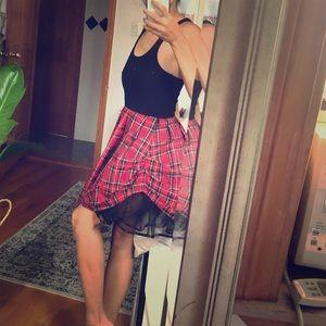 Fun ruffled punk rock dress